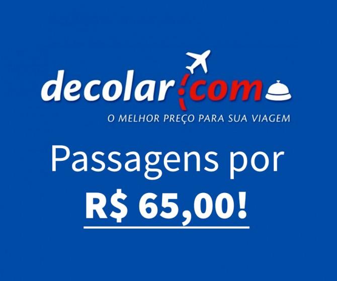 Decolar Passagens Aéreas Promocionais a partir de R$ 65,00!