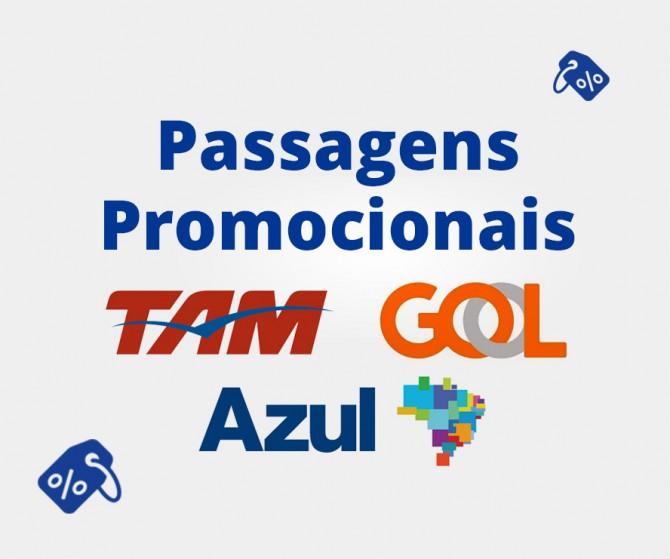 Passagens Aéreas Promocionais TAM, Gol e Azul 2017